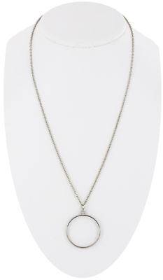 USA Made Pendant Silver Tone Mount Your Own Coin Holder Chain Necklace (Coin Necklace Holder)