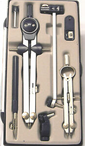 (DAMAGED LID) TECHNICAL PRECISION DRAWING SET,Technical Compass,COMPASS SET