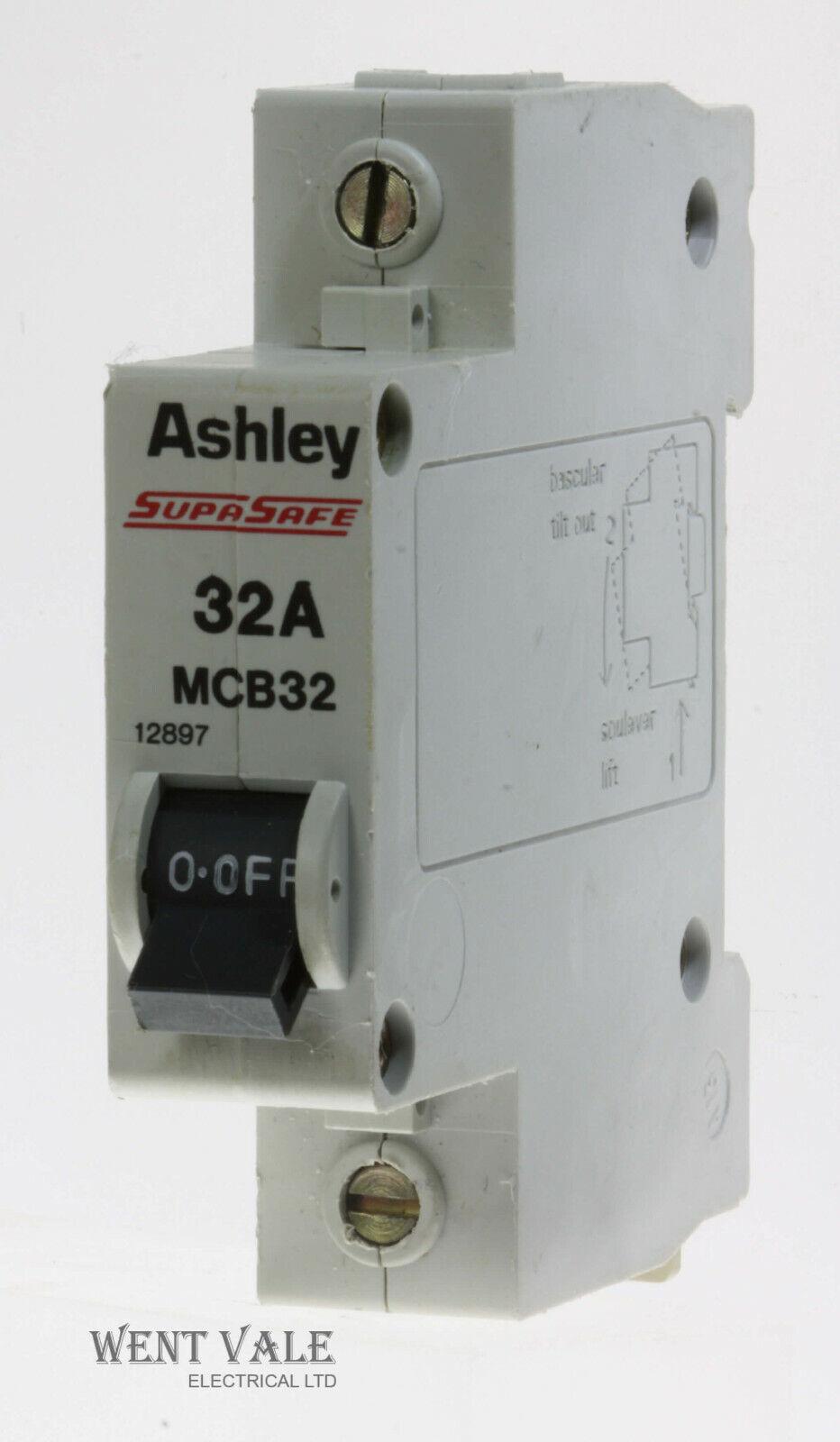 Ashley SupaSafe - MCB32/12897 - 32a Type 1 Single Pole MCB Used
