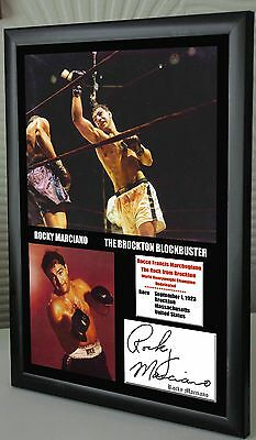 """Rocky Marciano Undefeated World Champion Canvas Print Signed """"Great Souvenir"""""""