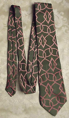 Trevira Wash & Wear vintage 1960s mans tie green & orange by Patersons of London
