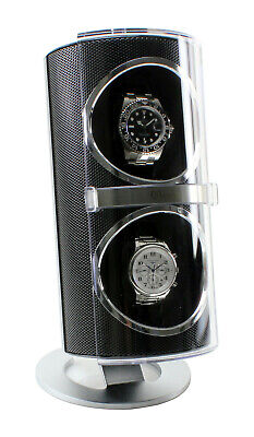 Versa Duo Double Watch Winder - Black - OTS-G091