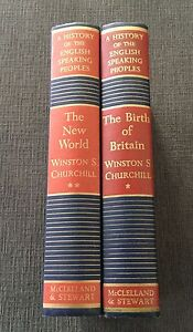HISTORY-OF-THE-ENGLISH-SPEAKING-PEOPLES-CANADIAN-Churchill-Winston1956vol1-amp-2