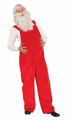 Red Santa Claus Overalls Old Time Kris Kringle Costume Accessory - Old Time Costumes