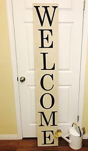Farmhouse cottage style 6' welcome sign