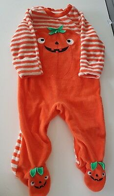 Sainsbury's Baby Clothes Halloween (TU Clothing Sainsburys baby pumpkin halloween outfit 3-6 months )