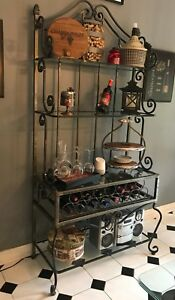 Wrought iron Bakers rack, perfect for a restaurant !