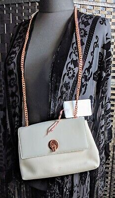 BEAUTIFUL, NEW TED BAKER, LIGHT GREY LEATHER, ROSE GOLD CHAIN STRAP.RETAILS £120