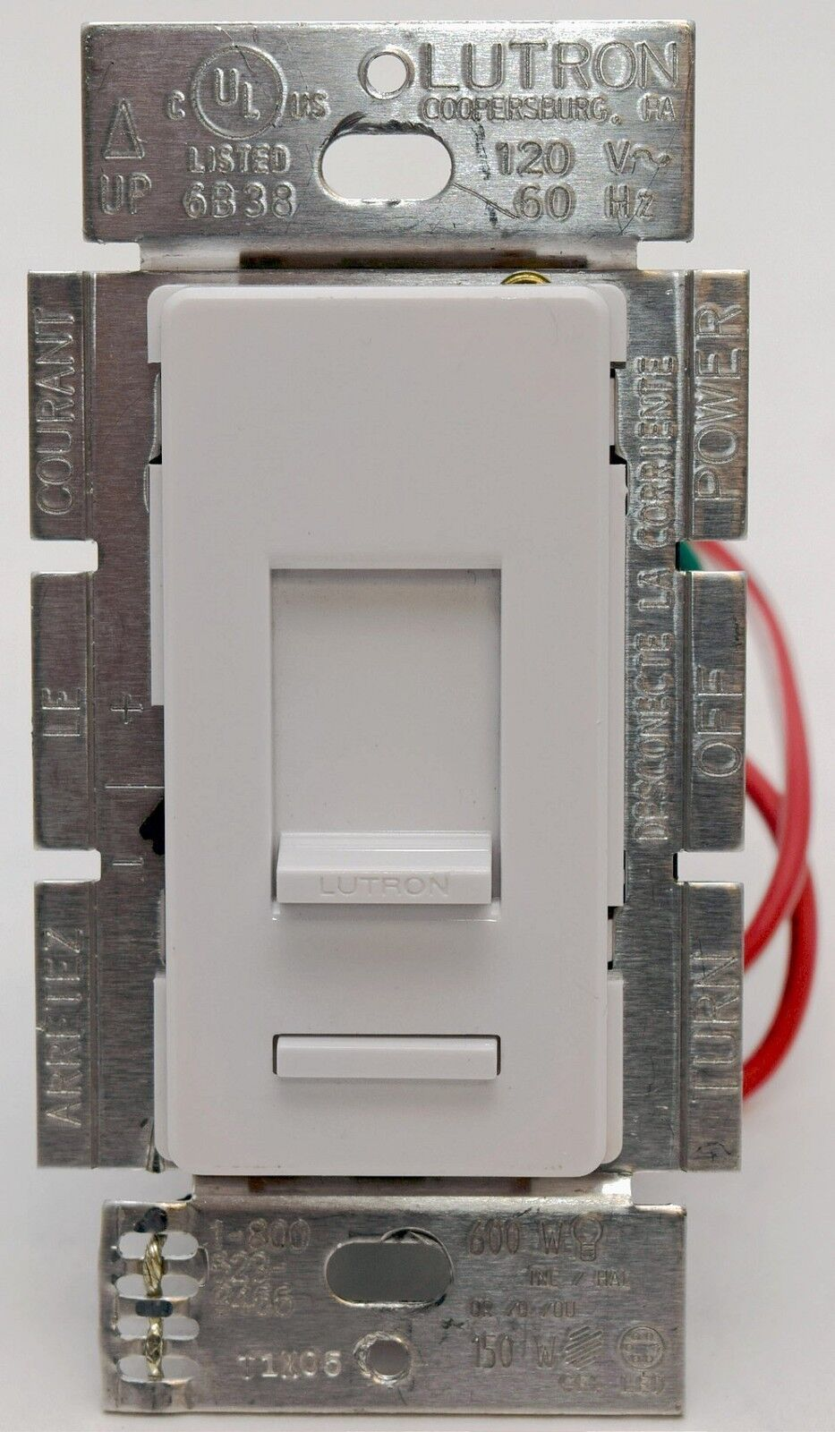 Lutron Lumea LGCL-153P 3-Way Single Pole CL Wall Dimmer Light Switch ...