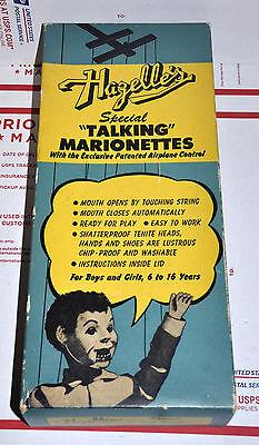 1950 HAZELLE'S SPECIAL TALKING MARIONETTE DOLL PUPPET ALICE IN WONDERLAND W BOX