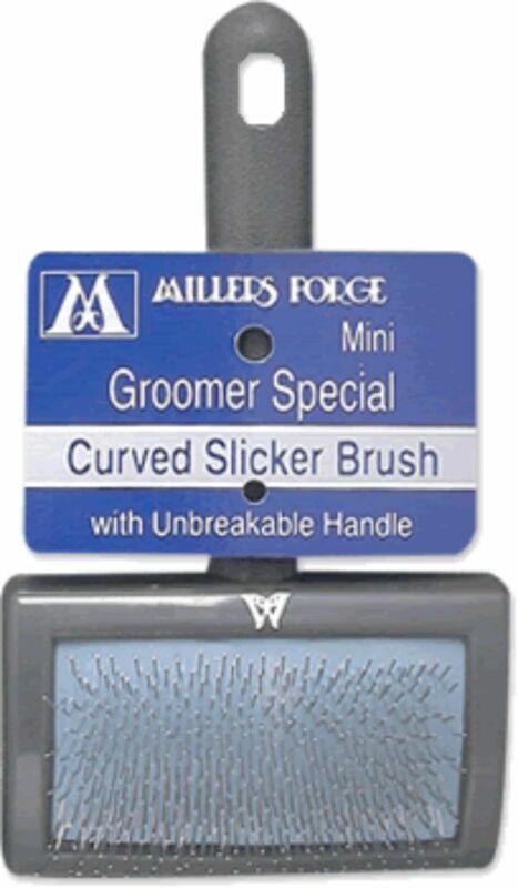 Curved Slicker Brush, Mini (Groomer Special) 414C