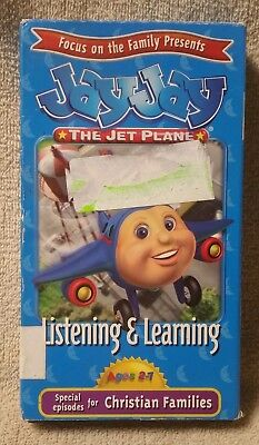 Jay Jay The Jet Plane Listening   Learning Vhs Video Christian Focus On Family