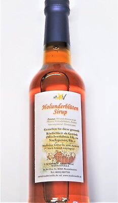 (1L=16,86€) 350ml Holunder Blüten Sirup - Holundersirup - Holunderblüten Sirup