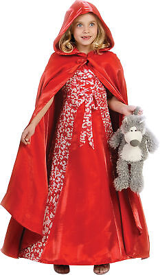 Little Red Riding Hood Child Girls Costume Dress Book Theme Party Halloween