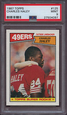 1987 Topps 125 Charles Haley Psa 9 Mint Rc