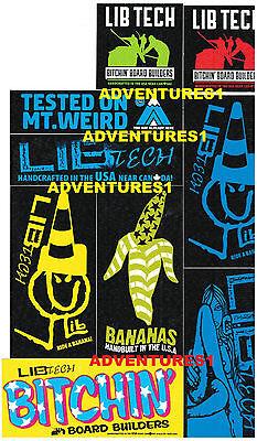 Lib Tech Banana Board (LIB TECH/TECHNOLOGIES SNOWBOARDS BITCHIN BANANA BOARD BUILDERS USA STICKER! )
