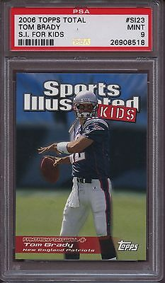 2006 Topps Total Sports Illustrated For Kids Si23 Tom Brady Si Psa 9 Mint