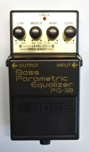 BOSS PQ-3B Bass Parametric Equalizer Guitar Effects Pedal 1991 #65 DHL or EMS