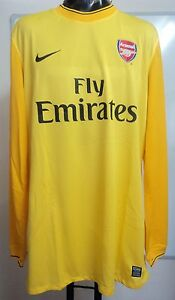 ARSENAL-09-10-PLAYER-ISSUE-YELLOW-KEEPERS-JERSEY-BY-NIKE-ADULT-XXL-BRAND-NEW