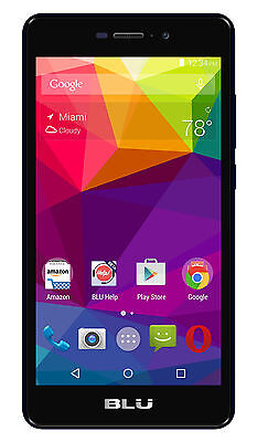 BLU Life XL L0050UU 8GB Unlocked GSM 4G LTE Quad-Core 13MP Camera Phone - Black