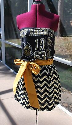 Knights Dress (UCF Knights Strapless Dress with Pockets and sash Upcycled T-Shirts)