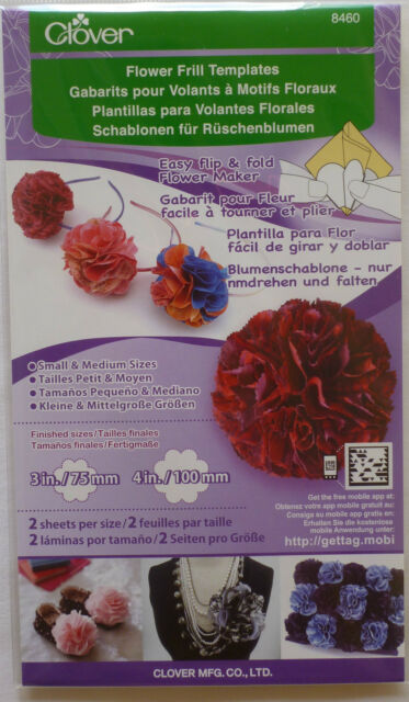 Clover Flower Frill Template - Small/Med