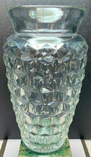 Rare Fostoria American Clear Bagged Vase
