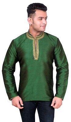 inkragen Shorts Kurta Hemd Asiatisch Hochzeit Party Outfit (Asiatische Outfits)