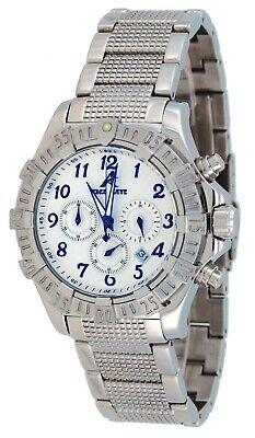 Adee Kaye AK7140-M Men's Stainless Steel Silver Dial Chronograph Watch ()