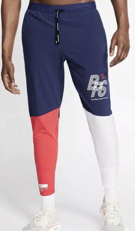 New Nike Blue Ribbon Sports Track Club Running Pants Red White Unisex Medium M