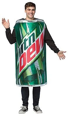 Rasta Imposta Mountain Dew Soda Get Real Can Adult Mens Halloween Costume GC4637