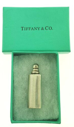 Tiffany & Co. Mini Sterling Silver Perfume Vial Bottle Vintage Germany .925