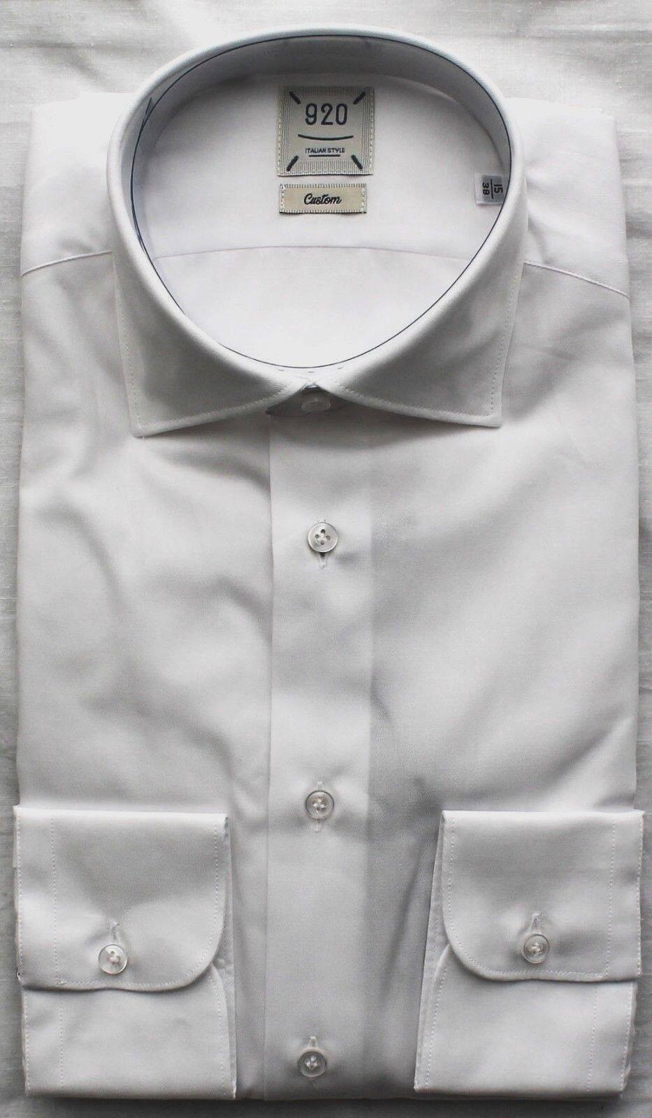 CAMICIA UOMO 920 BIANCA CUSTOM FIT COTONE 100% MADE IN ITALY