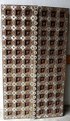 Eingangstüren,wohl Indien,19.Jhdt,schwer,mit Metallbeschlägen,beschnitzt.