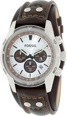 Fossil Men's Cuff CH2565 Brown Leather Quartz Fashion Watch