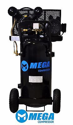 2 Hp Megapower Vertical Air Compressor 20 Gallon Single Stage Mp-2020ev