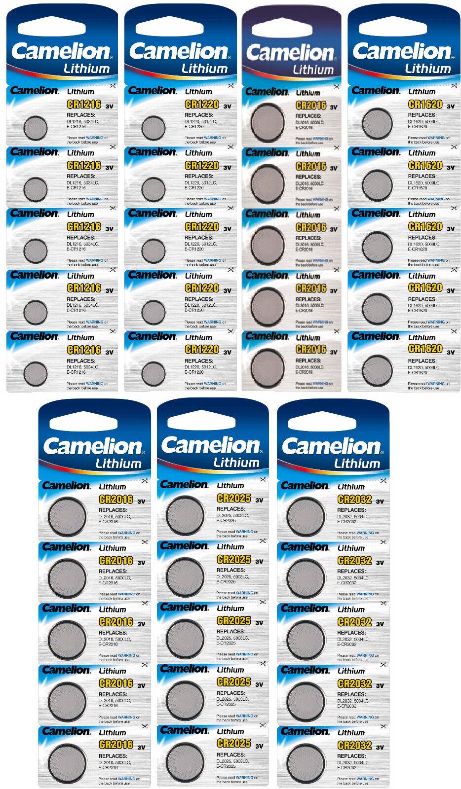 Camelion Lithium Knopfzellen 3V CR Edelstahl Batterien für Alarmanlagen Computer
