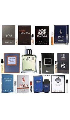20 Cologne Samples Lot Burberry Versace YSL Gucci Calvin Klein Best Designer LOT
