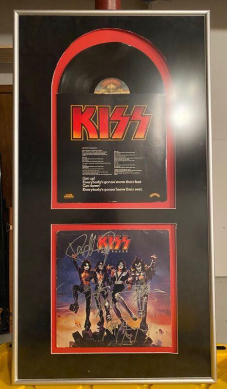 Framed, Signed KISS Destroyer Album