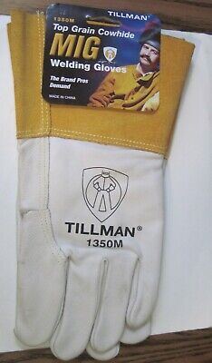 Tillman 1350m Unlined Top Grain Cowhide Mig Welding Gloves - Medium