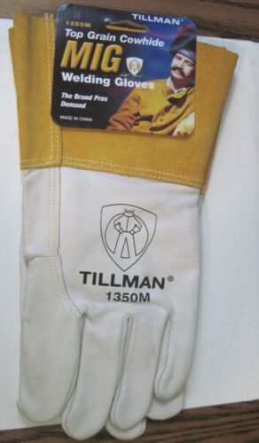 Tillman 1350M Unlined Top Grain Cowhide MIG Welding Gloves - Medium