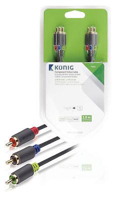 König Component-Video-Kabel, 3x RCA-Stecker– 3x RCA-Ste Leitung Kabel Verbinder 20 Component Video