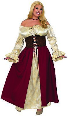 Plus Size Bar Wench Costume (Medieval Tavern Bar Wench Adult Women's Plus Size Costume Renaissance)