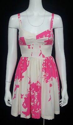 AMANDA UPRICHARD 'Champagne' Sz 0 Silk Hummingbird, Unicorn & Fairy Print Dress - Unicorn Corset