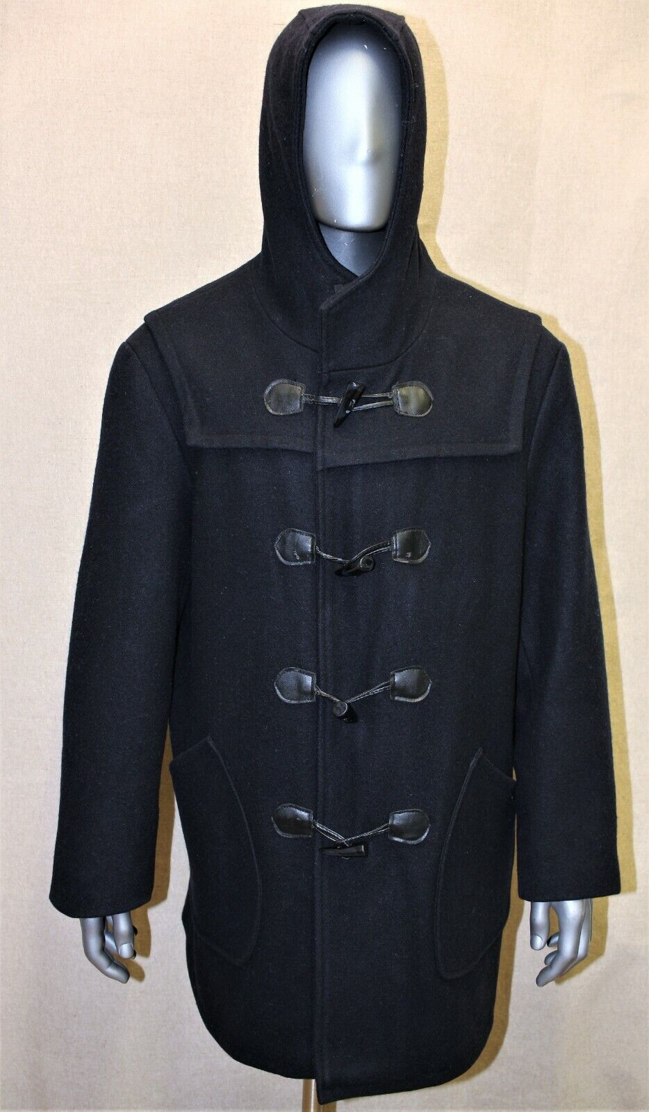 Duffle coat homme schott nyc laine bleu marine taille l 52 eur made in canada