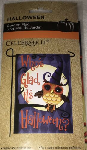 Cute Owl Themed Who's Glad It's Halloween Fall Mini Gard