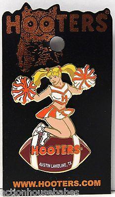 Sexy HOOTERS  Girl Cheerleader Football AUSTIN LAKELINE, TX TEXAS Lapel Pin
