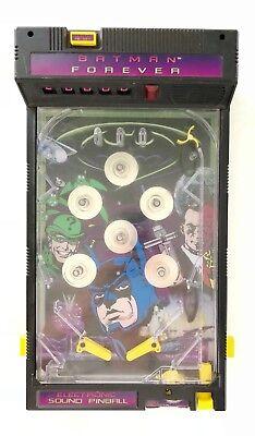 "CTRONIC PINBALL GAME TOY Machine Table Top 17"" 1995 DC Comic (Electronic Pinball Machine)"