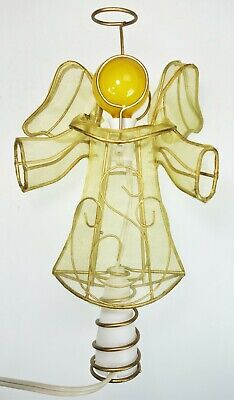"""Angel Tree Topper Electric Glow Light 9""""x6"""" Christmas Holiday"""