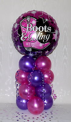 COUNTRY&WESTERN - COWGIRL - LINE DANCING -FOIL BALLOON DISPLAY-TABLE CENTERPIECE (Country Western Table Centerpieces)